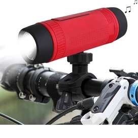 Parlante Linterna Para Bicicleta Bluetooth Radio Power Bank