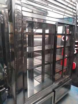 Nevera vertical refigerador panorámico.