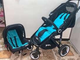 Ganga, coche de bebé + silla para el auto