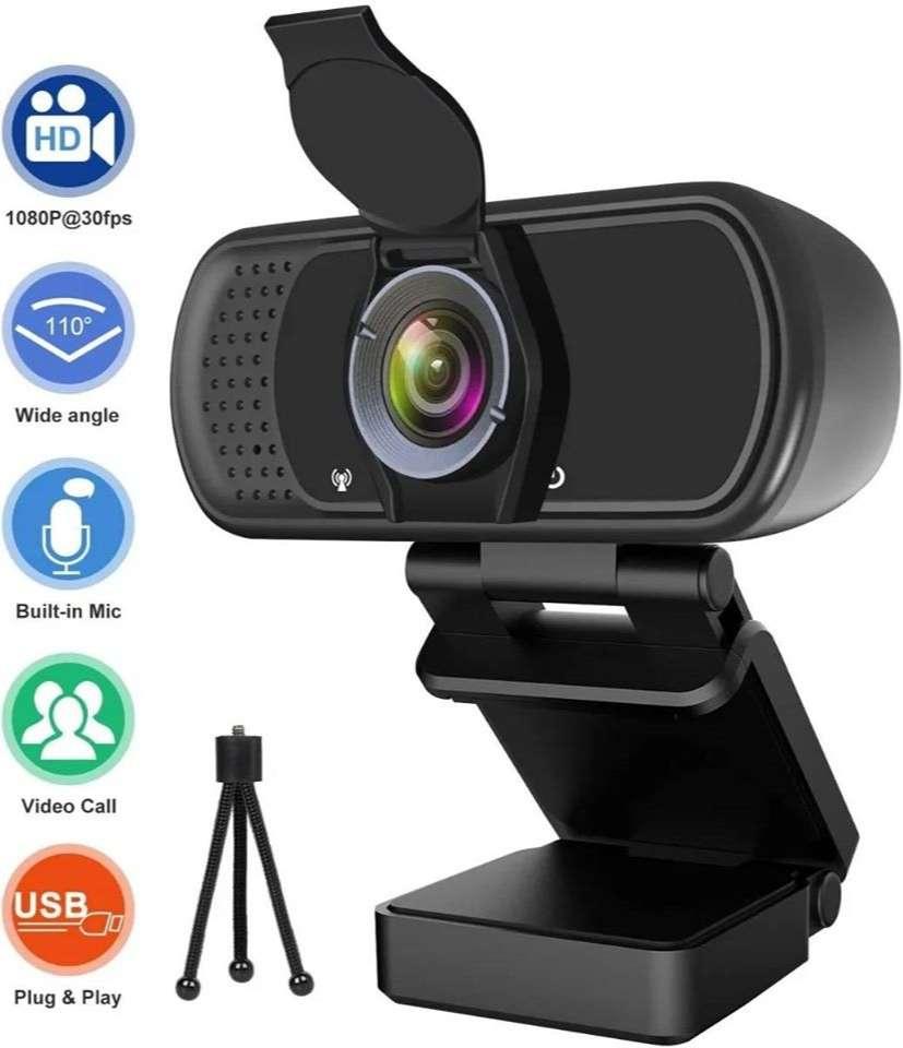 Webcam Hrayzan 1080p 30fps Videoconferencias + Tripode 0