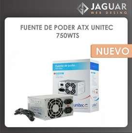 FUENTE DE PODER ATX UNITEC 750W