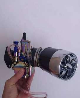 Kit carburador para moto con power jet de cortina plana de 28 mm +filtro de aire de alto flujo+ acelerador de cuarta