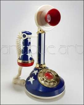 A64 Radio Am Adorno Decoracion Tipo Telefono Candelero Vintage