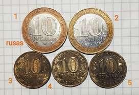 Jubileo Monedas Rusas, rublos