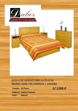 JUEGO DE DORMITORIO 02 PLAZAS