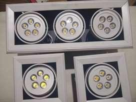Hermosas lámparas LED.