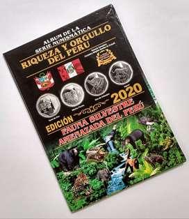 Album Monedas Riqueza , Orgullo y Fauna Amenazada del Peru para 42 Monedas