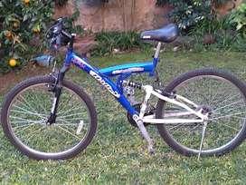 Bicicleta rodado 26 con cambios y suspensión
