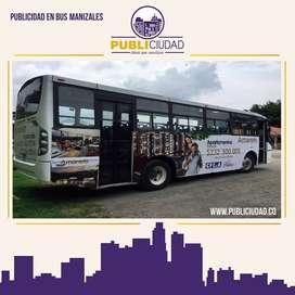 Publicidad en buses. Manizales