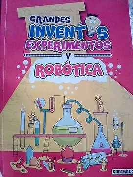 Se vende un libro de experimentos y robotica