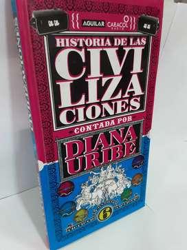 Historia de las civilizaciones contada por Diana Uribe seis cidís completos de narraciones