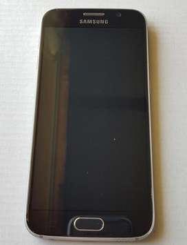 Samsung Galaxy S6, 32GB, libre, flat, azul oscuro. Excelente estado.