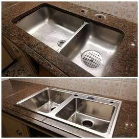 Reparacion, cortes, pegados e instalacion de marmol a domicilio en Buenos Aires