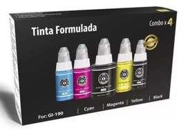 Kit Tinta Formulada CANON Serie G (Incluye 5 Botellas)