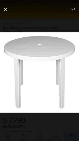 Mesa plastica redonda