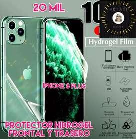 Protector de hidrogel frontal y trasero iPhone 8 plus