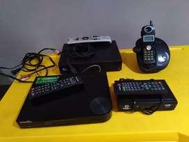 Se vende decodificador tdt, bluray Samsung, decodificador directv y antena, y teléfono inalambrico