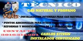 Instalador certificado para gas natural