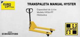 Transpaletas Stocka Manuales Hidráulicas Hyster 2500 Kg