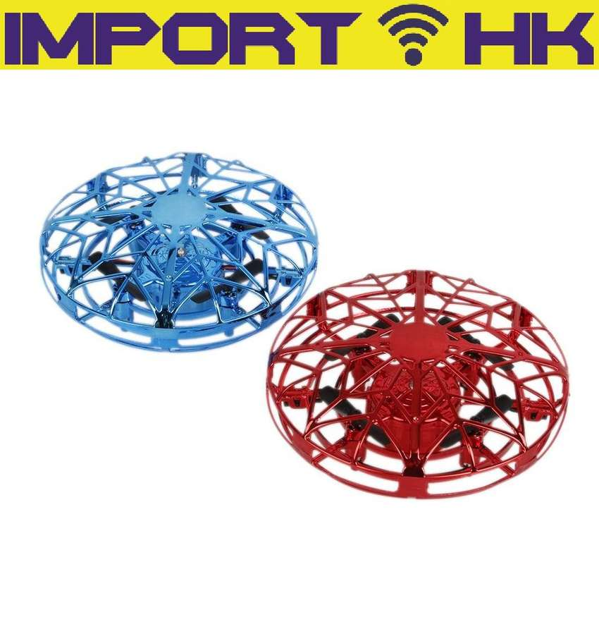 Mini Drones De Inducción Operados A Mano Ufo Quadrotor 0