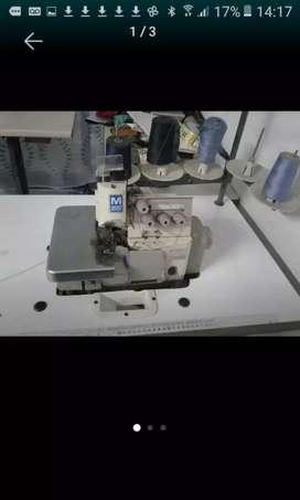 Maquina industrial overlook para telas pesadas