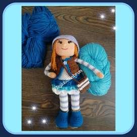 Muñeca Irma Tejida a Crochet