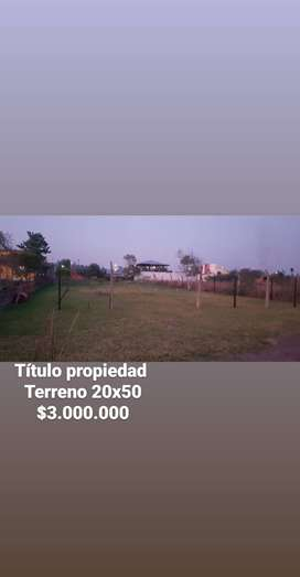 VENDO TERRENO EN HERRADURA 20X50