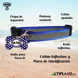 Kit Collar y Placa personalizados para mascotas