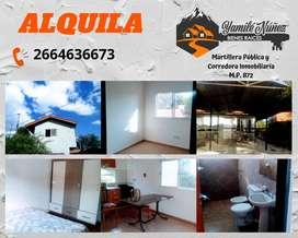 Alquiler permanente en zona céntrica de Merlo, San Luis