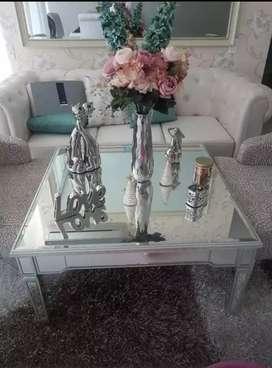 mesa de espejo medida 98 cm por 98 cm