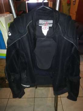 JACKET negra para MOTOCICLISTA Joe Rocket
