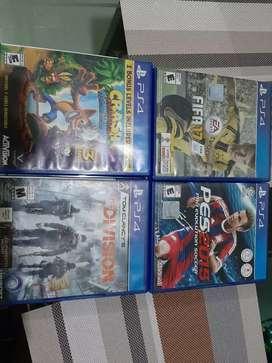 Juegos PS4 excelente estado