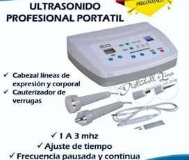Ultrasonido Portátil+cauterizador Facial Corporal 1 Mhz-3mhz