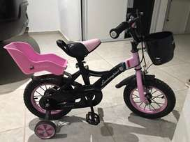 Bici niña rosa