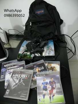 DE OPORTUNIDAD Ps3 Play Station3 500 gb 2 palancas  juegos