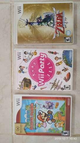 3 Juegos de Nintendo Wii
