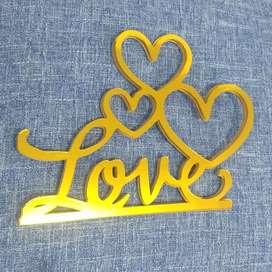 Decoración Toppers Amor y Amistad