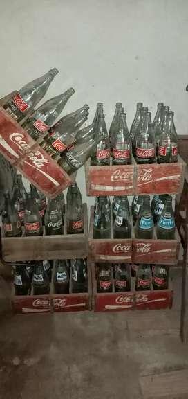 Botellas de coca cola fanta de 1lt.