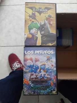 Películas originales DVD LOS PITUFOS Y BATMAN LEGO