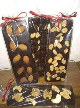 Tabletas de chocolates semi-amargo