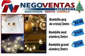 LUCES BOMBILLOS DECORATIVOS CON EXTENSION DE 3 METROS