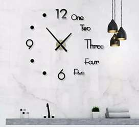 Reloj 3d medidas 120x120
