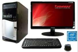 Intel Celerom J1800, D.D. 1 Tb, Ram 4gb, Dvd, Monitor Lg 19.5