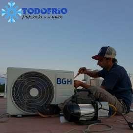 Aire, técnico, instalación, desinstalación, mantenimiento y reparación