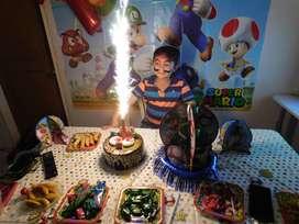 Recreadores para cumpleaños de niña, fiestas infantiles con temática de unicornio decoraciones a tu disposición