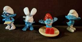 Muñecos Plastico Moviles Pitufos Mc Donalds ASP