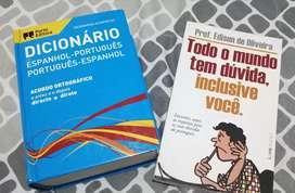 Vendo diccionario y libro de gramática