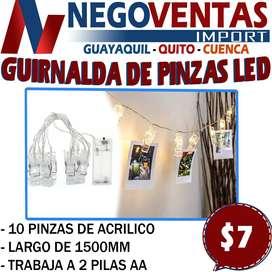 GUIRNALDA DE PINZAS LED EN DESCUENTO EXCLUSIVO DE NEGOVENTAS