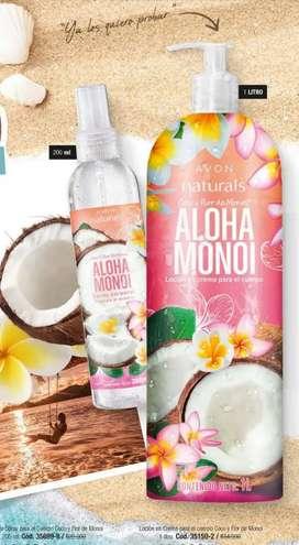 Colonia Spray y crema para cuerpo coco y flor de monoi