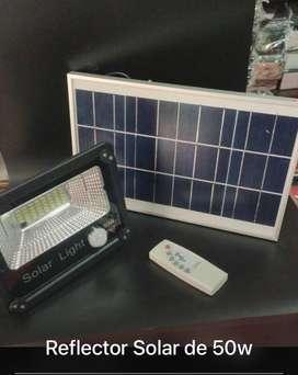 Reflector LED panel solar y control